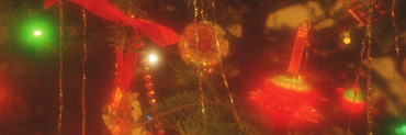 Christmas Tree Lights and Ornaments