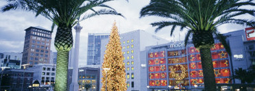 Decorated for Christmas/Winter Holidays, Union Square, San Francisco, California, USA