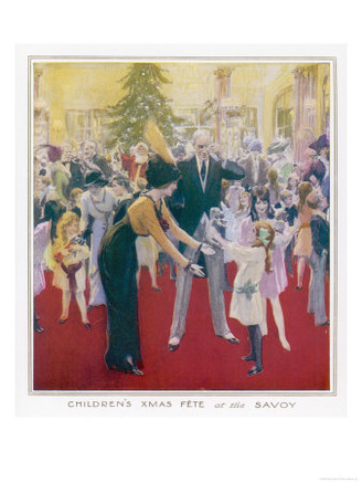 Christmas Fete for Upper-Class Children at the Savoy Hotel London