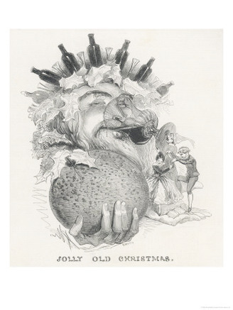 An Engraving of King Cheer Enjoying Christmas Festivities